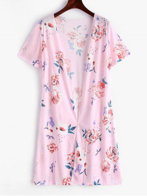 Robe Couverture Fleur Ouverte en Avant - Rose Cochon L Mobile