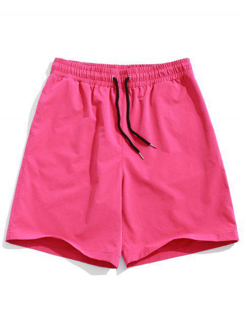 ZAFUL Short avec poches à couture simple - Rose Foncé  2XL Mobile