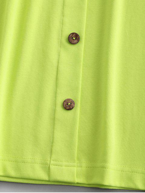 ZAFUL Robe Courte Néon Boutonnée Deux Pièces - Vert Thé M Mobile