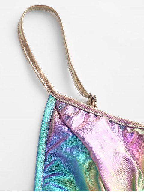ladies Glitter Reflective Crop Camisole - MULTI-A S Mobile