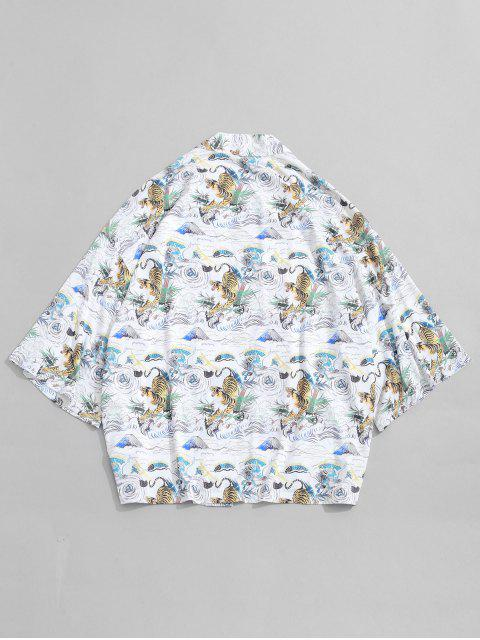 Cardigan kimono ouvert à imprimé tigre ZAFUL - Multi-A L Mobile