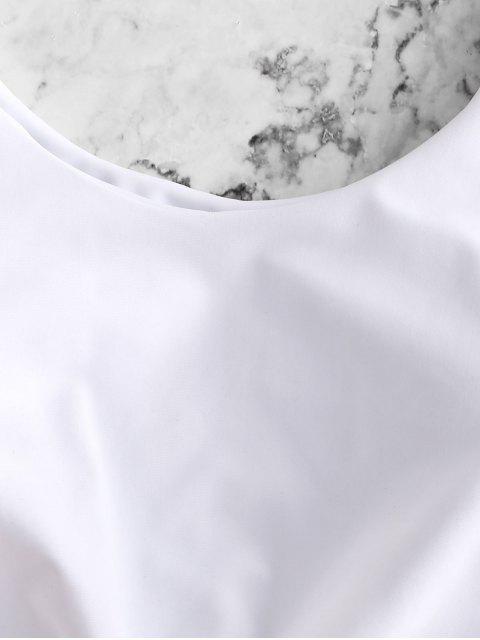 sale ZAFUL Knot Scalloped Mix and Match Tankini Swimsuit - ROSE L Mobile