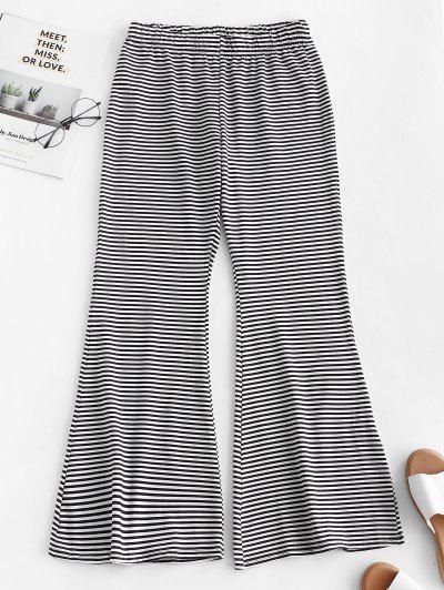 Zaful / High Waist Striped Bell Bottom Beach Pants
