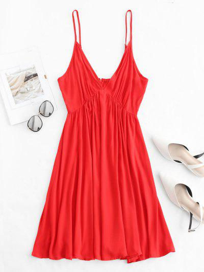 Backless Low Cut Mini Cami Summer Dress