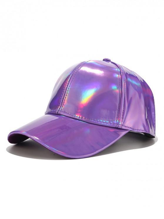 Cappello da baseball con decorazione laser a tinta unita - Viola