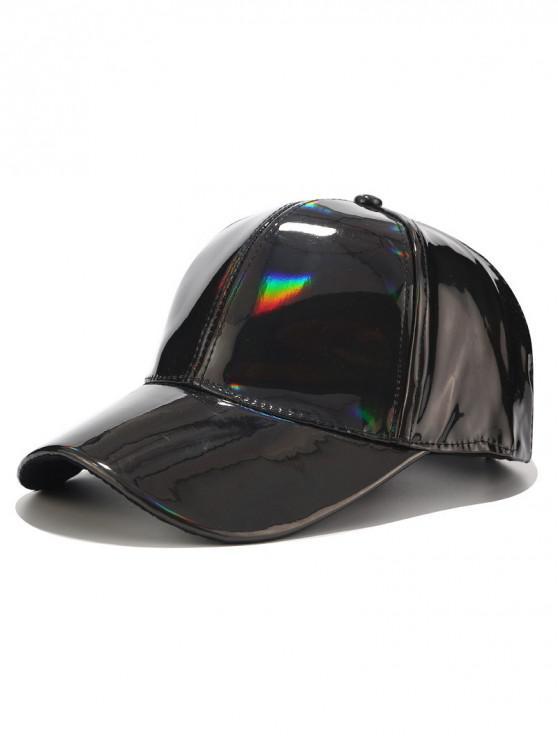 Cappello da baseball con decorazione laser a tinta unita - Nero