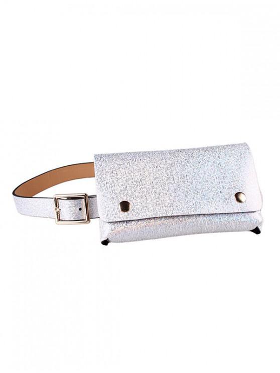 亮片設計腰包腰帶包 - 銀