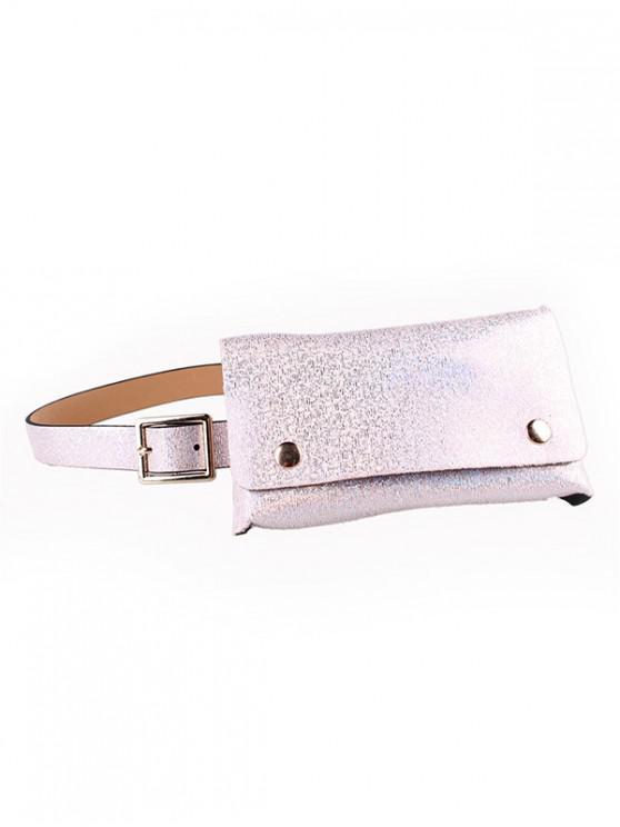 fancy Sequins Design Fanny Pack Belt Bag - SAKURA PINK