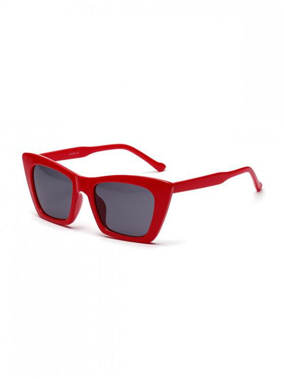 outfit Square Shape Design Outdoor Sunglasses - RED WINE