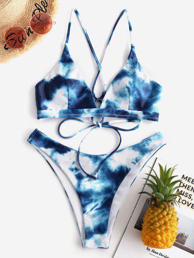 9a4a1c83e66f Tie Dye Bikini | Blue, Tie Dye Bathing Suit And Swimsuit Online | ZAFUL
