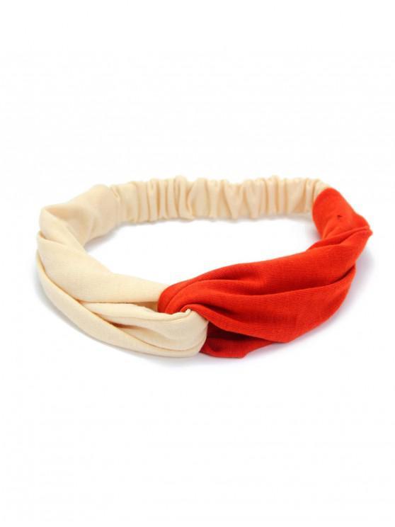 Fascia elastica color block nodo - Beige
