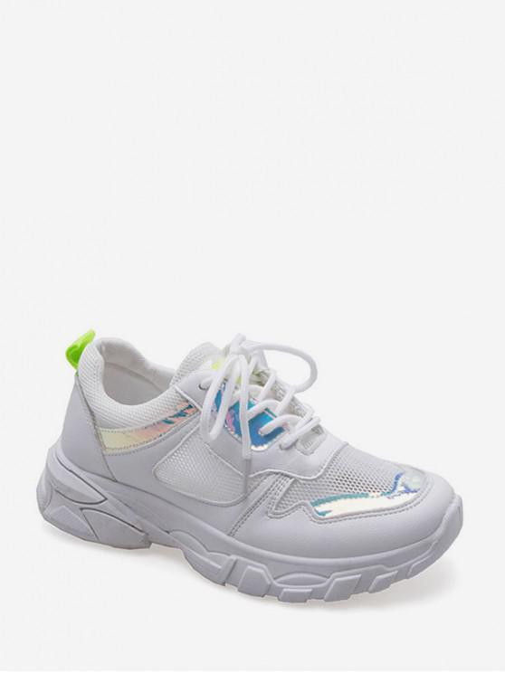 Chaussures de Sport Respirantes au Laser en PVC PUMPKIN ORANGE GREEN