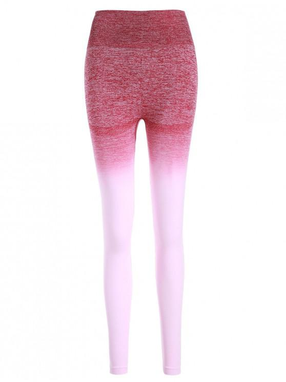 new Ombre Space Dye Wide Waistband Yoga Leggings - MULTI-A XL