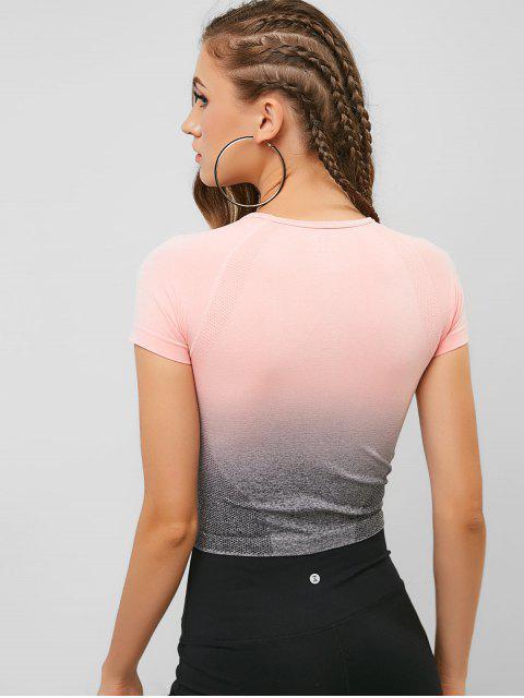 Camiseta de gimnasio Ombre Space Dye elástica - Rosa Flamenco S Mobile