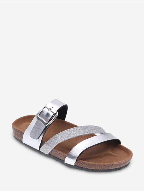 online Sequins Design Outdoor Sandals - SILVER EU 40 Mobile
