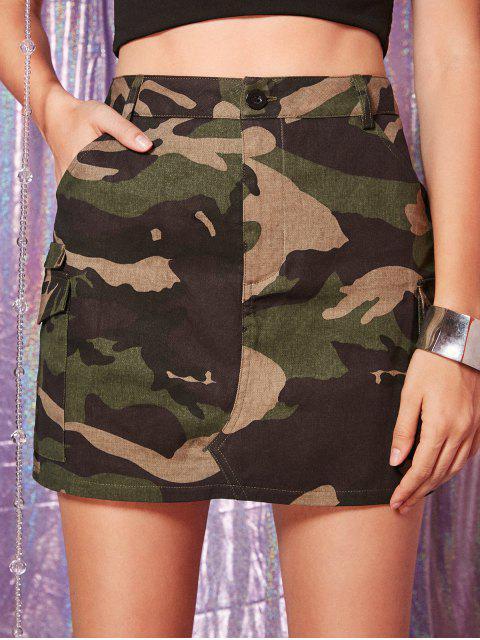 ZAFUL Mini-Jupe Camouflage avec Poche - ACU Camouflage S Mobile