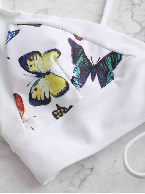 ZAFUL Maillot de Bain Bikini Rembourré Croisé Papillon Imprimé - Multi-A M Mobile
