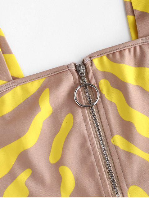 Robe Courte Imprimée Zippée Deux Pièces - Multi S Mobile