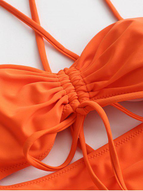 ZAFUL С вырезом Слитный Купальник - Оранжевый XL Mobile