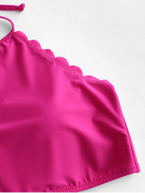 ZAFUL festoneado nudo Halter Tankini del traje de baño - Dimorphotheca Magenta L Mobile