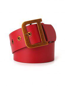 مشبك معدني خمر حزام الخصر - أحمر