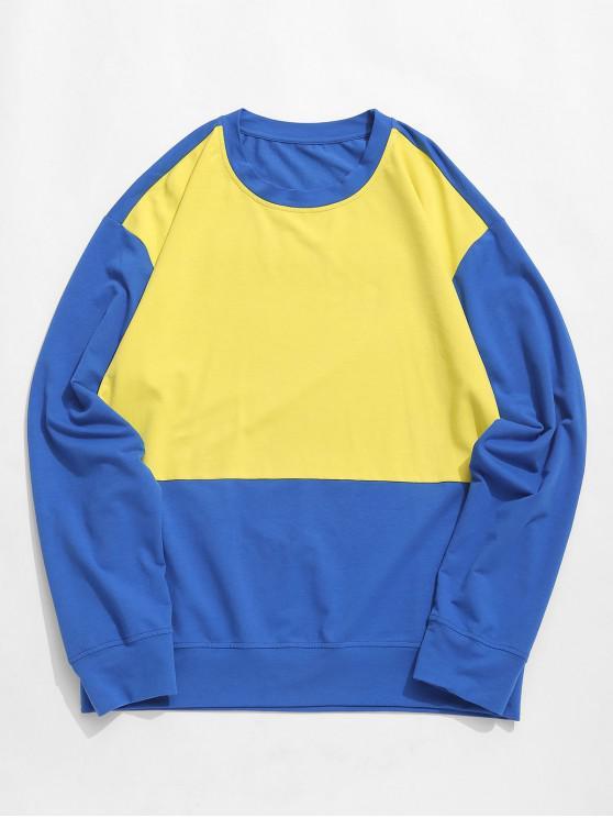 Felpa tunica a spalla bicolore a contrasto bicolore ZAFUL - Multi Colori-A L