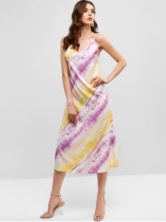 outfits Tie Dye Cami Midi A Line Dress - MULTI-A L