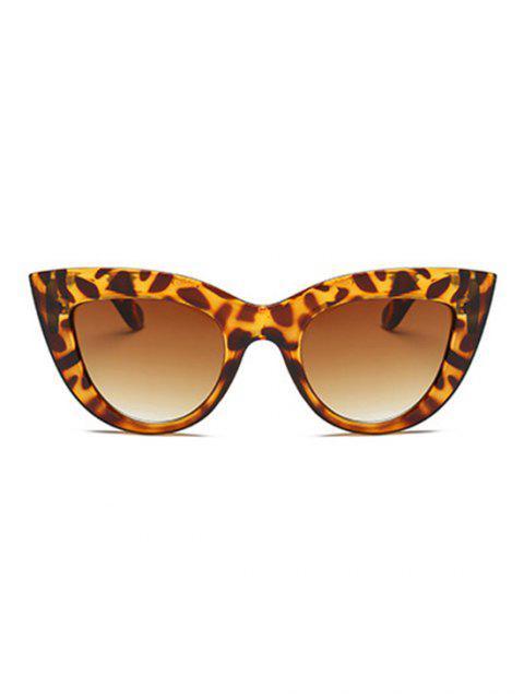 Винтаж Большая оправа Солнцезащитные Очки - Леопард  Mobile