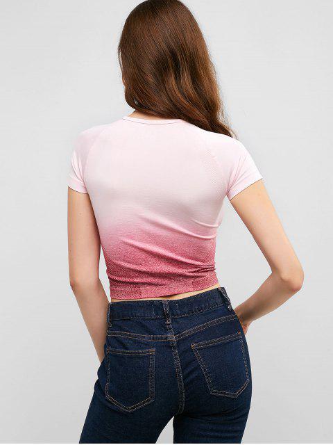Camiseta de gimnasio Ombre Space Dye elástica - Lila Roja M Mobile