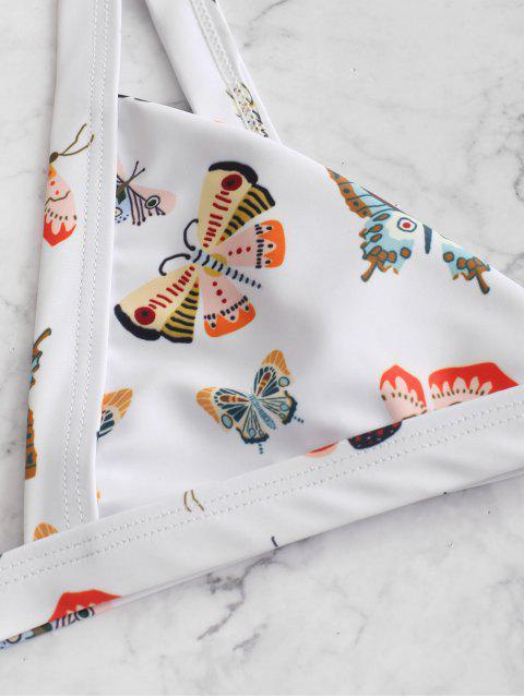 ZAFUL Maillot de Bain Bikini Papillon Imprimé - Blanc M Mobile