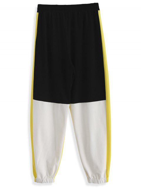 Pantalon de jogging à blocs de couleur ZAFUL Seam Pockets - Multi-A 2XL Mobile