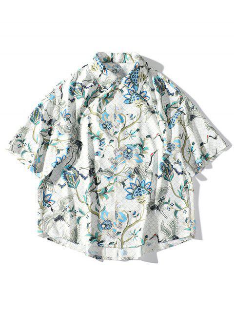 Chemise de plage à épaule - Blanc Chaud XL Mobile