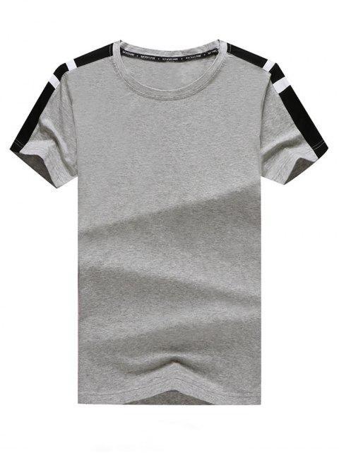 T-shirt décontracté et pantalon long à empiècements colorés - Oie grise 2XL Mobile
