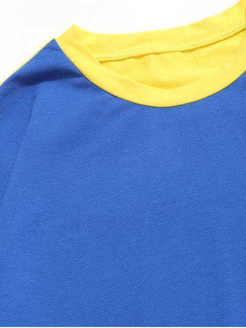 ZAFUL Sweat-shirt tunique à épaules dénudées et à contraste contrasté - Multi-A S Mobile