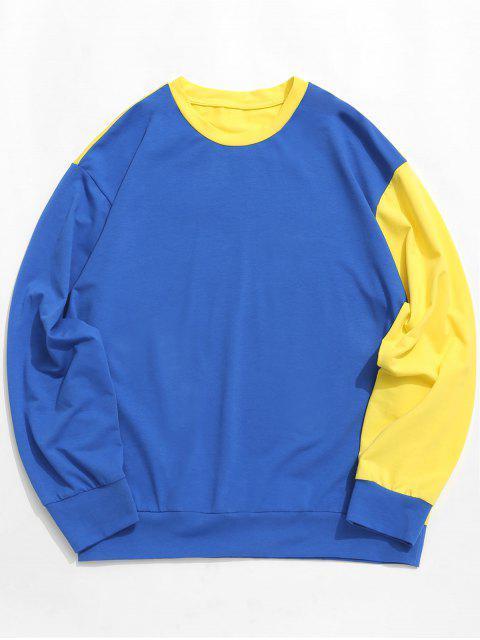 ZAFUL Sweat-shirt tunique à épaules dénudées et à contraste contrasté - Multi-A 2XL Mobile