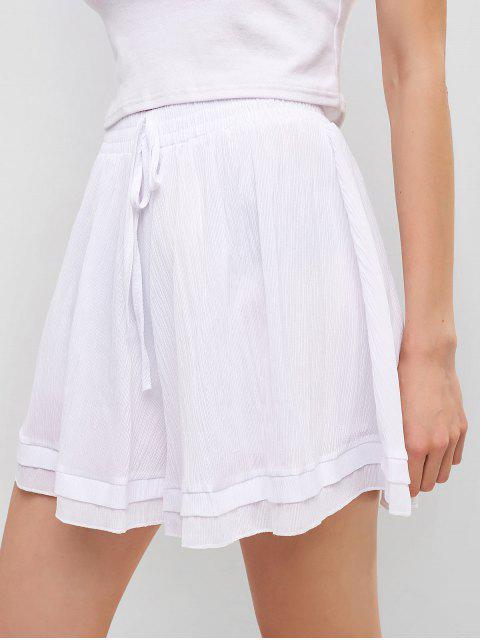 Short Noué Taille Haute à Jambe Large - Blanc Taille Unique Mobile