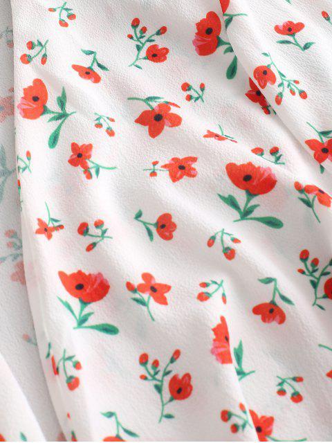 Barboteuse à fleurs plongeantes - Blanc L Mobile