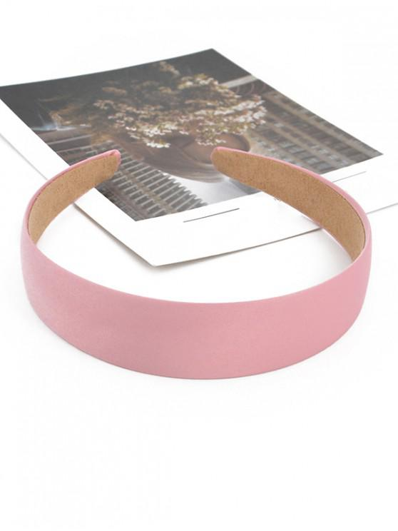 latest Vintage Solid Brief Wide Hairband - PINK