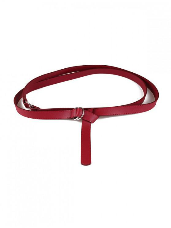 8dee3d8e9 23% OFF] 2019 PU Leather Extra Long Thin Belt In RED | ZAFUL