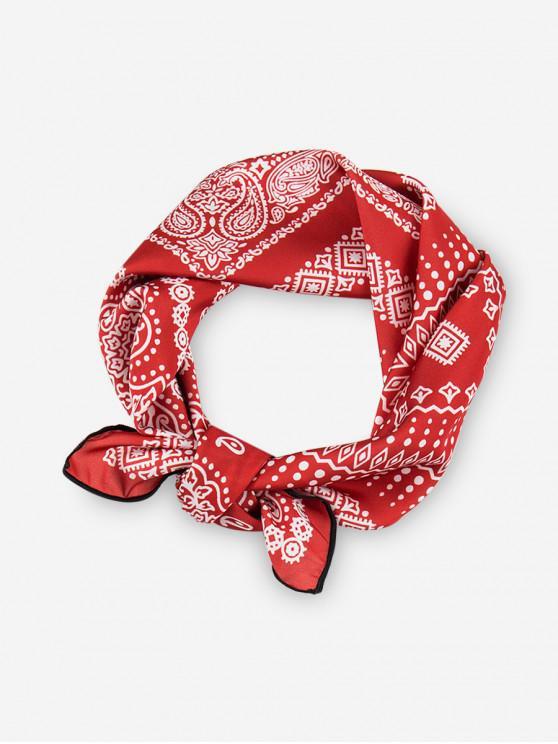 Sciarpa quadrata stampata Bohemian - Rosso