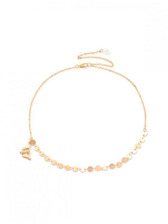 Collana di paillettes a farfalla - Oro