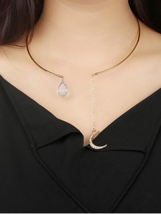 Collana polsino con gemma e strass - Oro