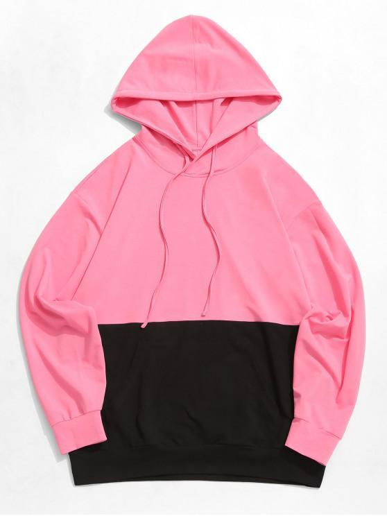 Felpa con cappuccio color block tasca a marsupio ZAFUL - Multi Colori-A L