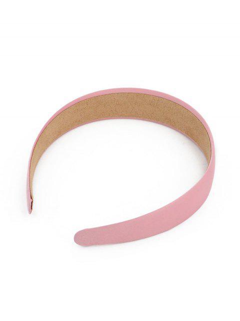 Bande de Cheveux Large Simple Vintage en Couleur Unie - Rose   Mobile