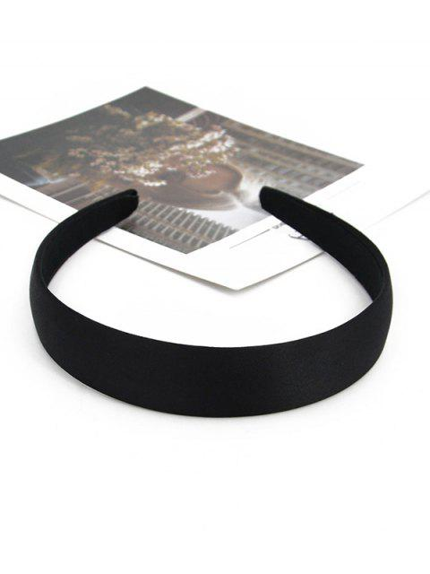 fashion Vintage Solid Brief Wide Hairband - BLACK  Mobile