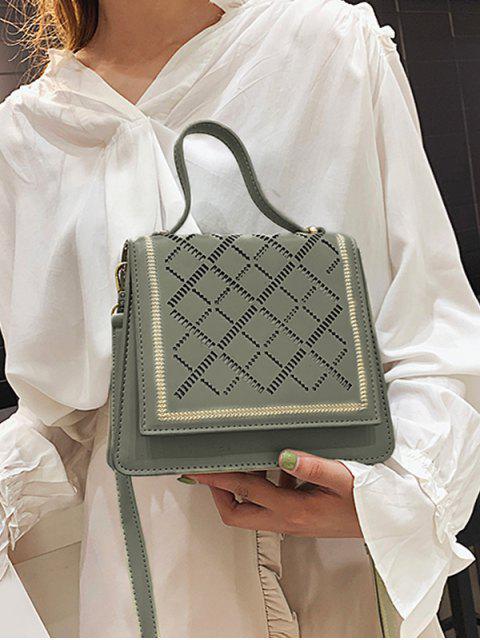Casual sac à bandoulière carré évidé - Vert Foncé de Mer  Mobile