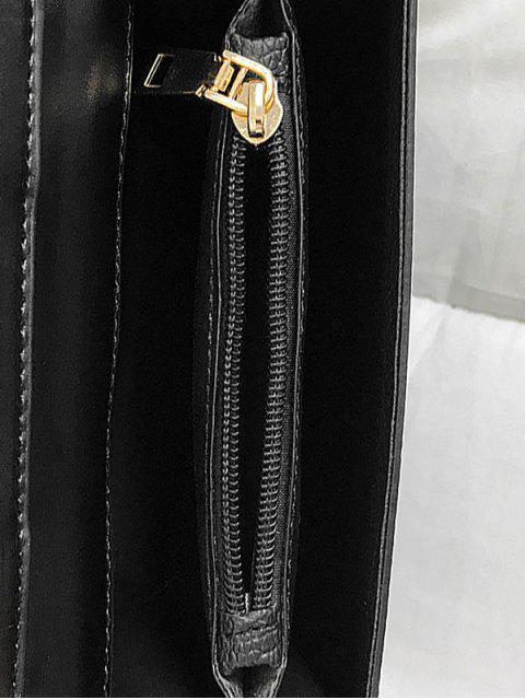 Casual sac à bandoulière carré évidé - Noir  Mobile