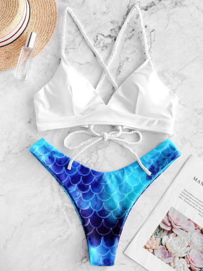 ZAFUL Bikini De Corte Alto Con Cordones - Multicolor-a M