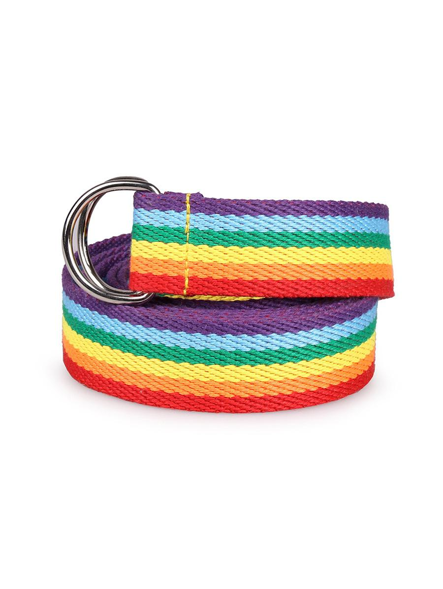 Double Ring Rainbow Belt, Multi