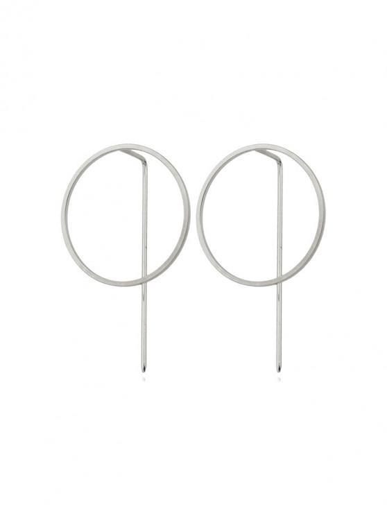 Orecchini cerchio minimalista all'orecchio - Argento